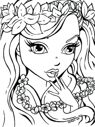 Coloring Pages For Adults Online Teenage Girls Girl Sheets Of ...