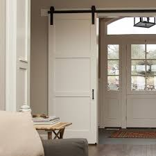 sliding barn doors. 3 panel craftsman sliding barn door artisan hardware doors