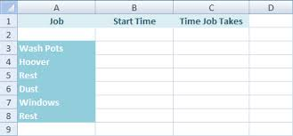 how to make a time schedule in excel microsoft excel tutorials a timetable project