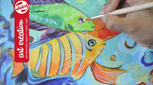 how to paint tropical fish with acrylics talens art creation