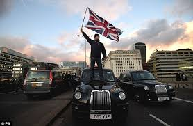 Black cabs close London Bridge to traffic | Daily Mail Online