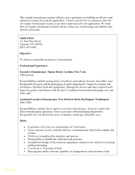Resume Objective For Housekeeping Job Housekeeper Resume Objective Beautiful Hotel Housekeeping Resume 17