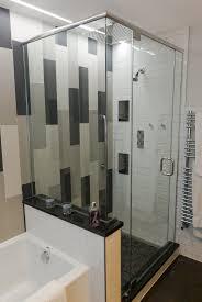 modern shower head recessed bathroom lighting. Modern Bathroom Design, Recessed LED Accent Lighting, Gray, White, Black Tile Shower Head Lighting Pinterest