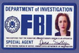 Movie Dana Files Props Fbi Scully Fbi-id-card-x-files-dana-scully-fbi-badge-fake-id-props