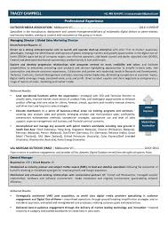 Resume Managing Director Free Resume Example And Writing Download
