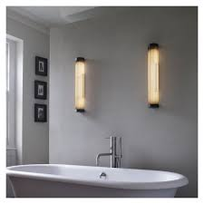 Conran Wall Lights Pillar Bathroom Wall Light 40cm Weathered Brass Ip44