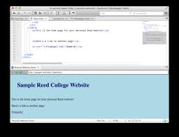 Reed College | CIS | Creating a Website with Komodo Edit