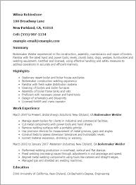 Resume Templates: Boilermaker Welder