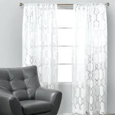 White Patterned Curtains Extraordinary White Patterned Curtains Ideas With Decor 48 Blackout Startuphoundco