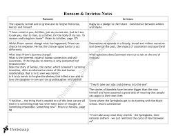 ransom invictus text comparison notes year vce english  ransom invictus text comparison notes