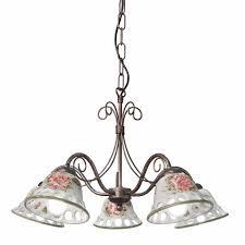 Drei Oder Fünfflammiger Leuchter Mit Keramikschirmen