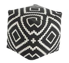 Black And White Pouf Geometric Pouf A1000429 Poufs I Keating Furniture World