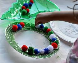 Christmas Crafts For Kids  Easy Christmas Wreath For Toddlers Two Year Old Christmas Crafts