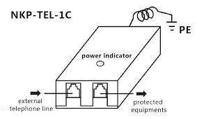 adsl pstn telephoneline surge protective devices spd nkp tel 1c wiring diagram adsl telephone line surge arrester nkp tel 1c
