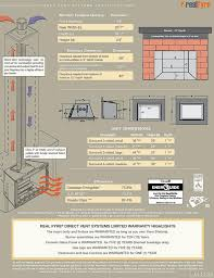 r h peterson real fyre d1 30 direct vent gas fireplace venting and installation specifications