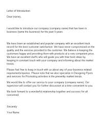 New Product Introduction Letter Template Stunning Business Letter Of Introduction Nurufunicaasl
