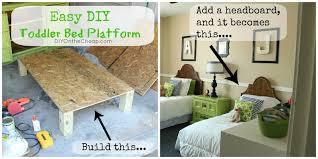 easy diy toddler bed platform  erin spain