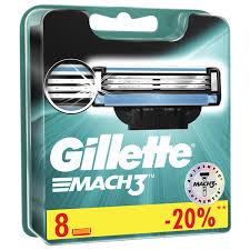 Купить <b>Сменные кассеты</b> для бритья 8 шт., <b>GILLETTE</b> (Жиллет ...