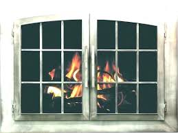 fireplace screen doors with blower replacement outdoor fire pit screens sc fireplace screen