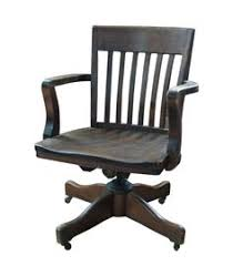 wooden swivel office chair. Vintage Wooden Office Chair With Casters On Chairish.com Wooden Swivel Office Chair A