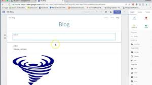 How To Create A Blog How To Use Google Sites To Create A Blog Youtube