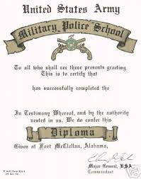 United States Army Military Police School U S Army Military Police Certificate Swat Riot Ctrl 32636918