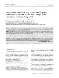 Pdf Comparison Of Wearable Activity Tracker With Actigraphy