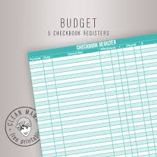 5 Checkbook Registers - Clean Mama