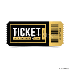 Play Ticket Template Vector Ticket Isolated On White Background Cinema Theater Concert