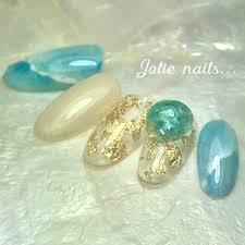 夏海リゾート女子会ハンド Jolie Nailsのネイルデザインno