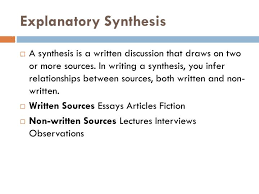 Explanatory Synthesis Essay Ppt Explanatory Synthesis Powerpoint Presentation Id 2506351