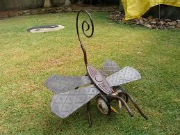 Recycled Garden Art | OLYMPUS DIGITAL CAMERA. Recycled Garden ArtMetal Yard  ...