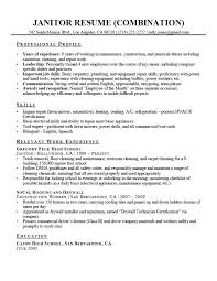 Sample Resume For Janitorial Position Best Of Free Sample Resumes Janitorial Resume Web Combination Janitor