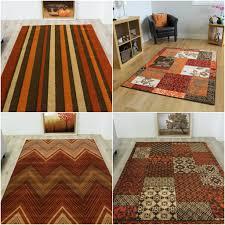 Living Room Carpet Rugs New Terracotta Warm Red Orange Brown Soft Modern Bedroom Rugs