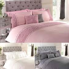 lomond vintage embellished roses ruffles fl duvet pink elephant bedding set