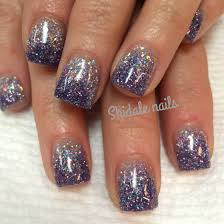 Short Nail Designs With Glitter Short Square Acrylics Glitter Ombre Nails Shidale Nails