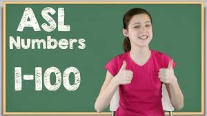 Sign Language Numbers 1 100 Chart Sign Language Numbers Sign Language Chart