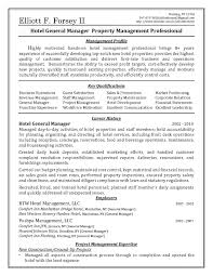 Sample Resume For Hotel Management Job Free Resume Example And