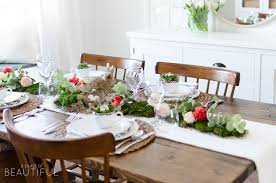 Floral and Moss Easter Tablescape - A Burst of Beautiful