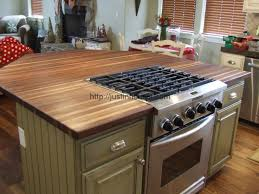 contemporary style decoration with butcher block countertops menards middletown wood floor tileanual kitchen cabinets stove