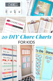 20 Diy Chore Charts For Kids Mommy Moment