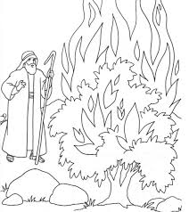 Small Picture the call of moses Colouring Pages moses Pinterest Burning