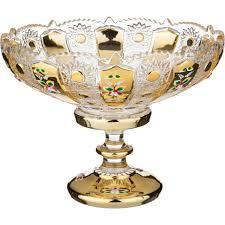 """<b>Фруктовница</b> на ножке """"<b>lefard</b> gold glass"""" <b>диаметр</b>=30 см. высота ..."""