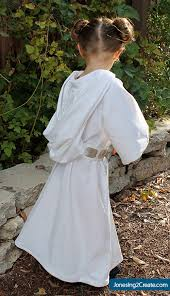 child princess leia costume back