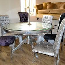 bespoke silver leaf 1 5m round dining table ex show home furniture