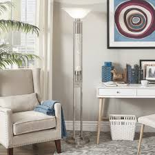 Cosmina Sparkling Nickel Finish Torchiere Floor Lamp by iNSPIRE Q Bold -  Free Shipping Today - Overstock.com - 22835680