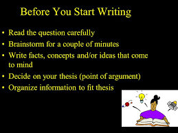 Brainstorming outline form for the   paragraph essay
