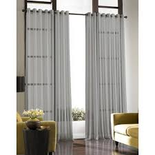 soho voile lightweight sheer grommet long length curtain panel x 144 silver polyester solid