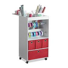 Real simple office supplies Office Desk Image Unavailable Amazoncom Amazoncom Real Simple Gift Wrap Cart Home Kitchen