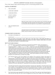 Lease Agreement Format Tenancy Agreement Templates Free Download Edit Print And